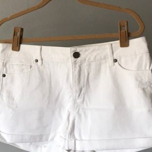 White denims Paige shorts